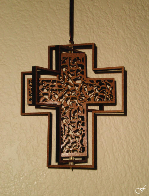 3D Mobile Hanging Cross by Fralenco