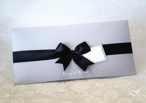Bachelorette Cards with Black Ribbon by Fralenco