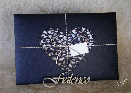 Bachelorette Cards with Laser Cut Heart Shape by Fralenco
