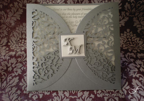 Bachelorette Cards Laser Cut with Initials by Fralenco