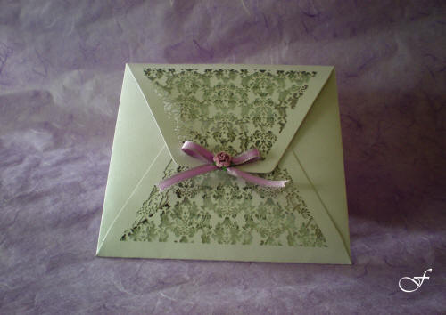 Bachelorette Cards Laser Cut with Pink Ribbon by Fralenco