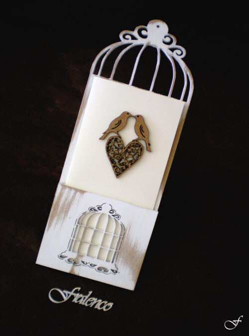 Bachelorette Invitation with Birds and Cage by Fralenco