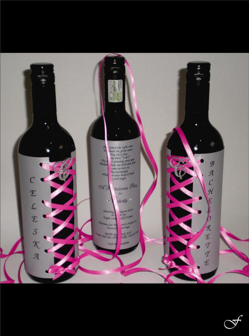 Bachelorette Invitations Wine Bottle by Fralenco