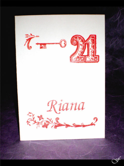 Red 21st Birthday Invitation By Fralenco