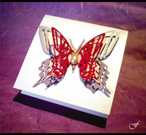 Birthday Invitations Laser Cut 3D Butterfly by Fralenco