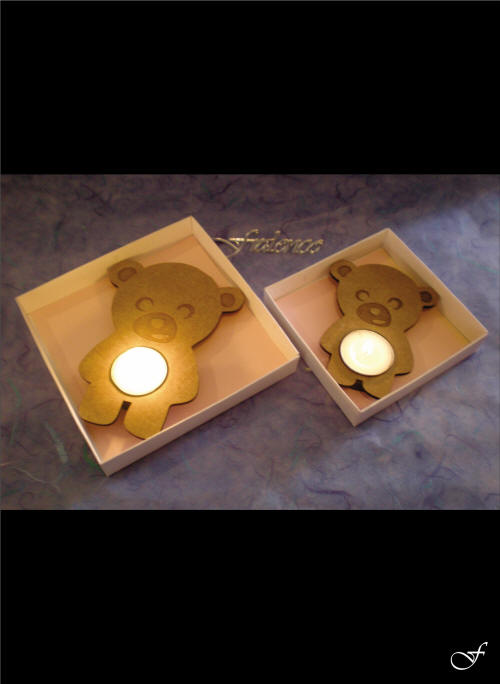 Teddy Bear Tea Lights by Fralenco