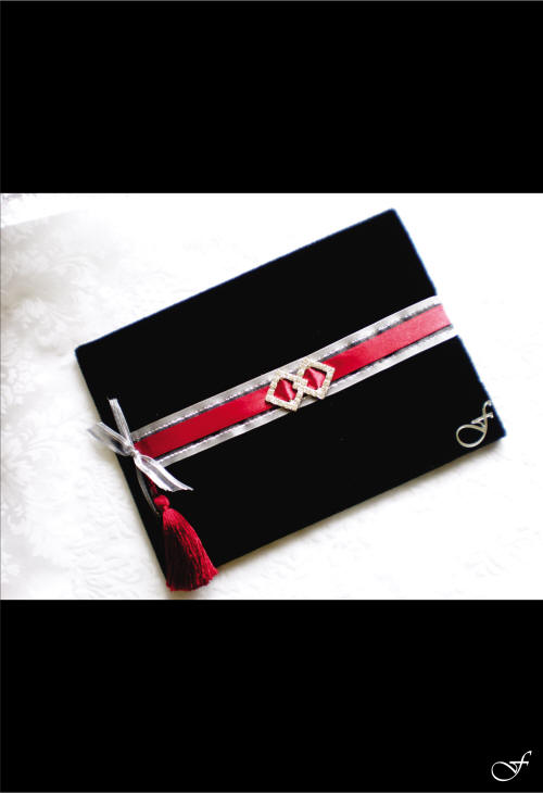 Guest Books with Red Ribbon - Fralenco