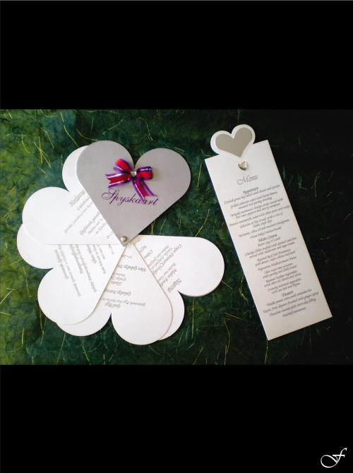 Heart Shaped Menu Stacked by Fralenco