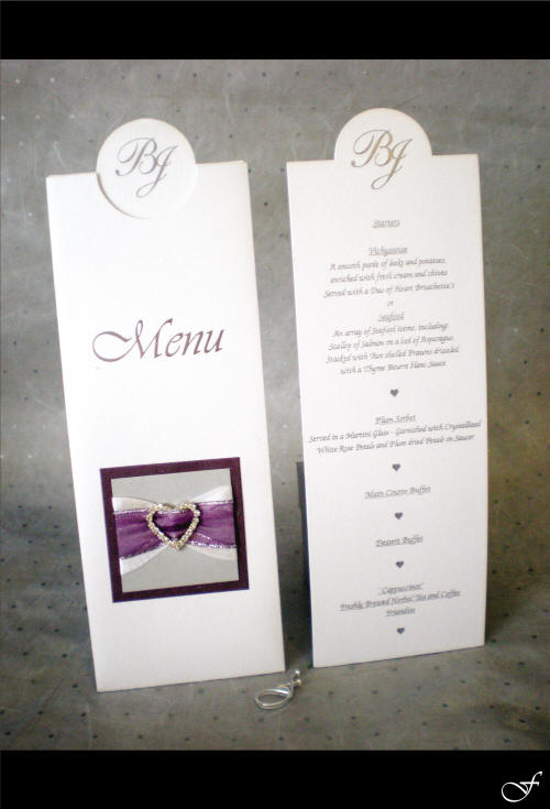 Menu with Purple Ribbon by Fralenco