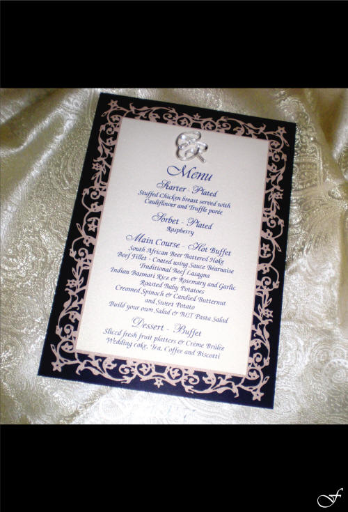 Silver and Navy Menu - Fralenco