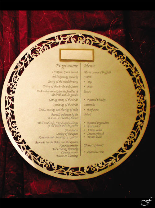 Menu Table Underplate by Fralenco