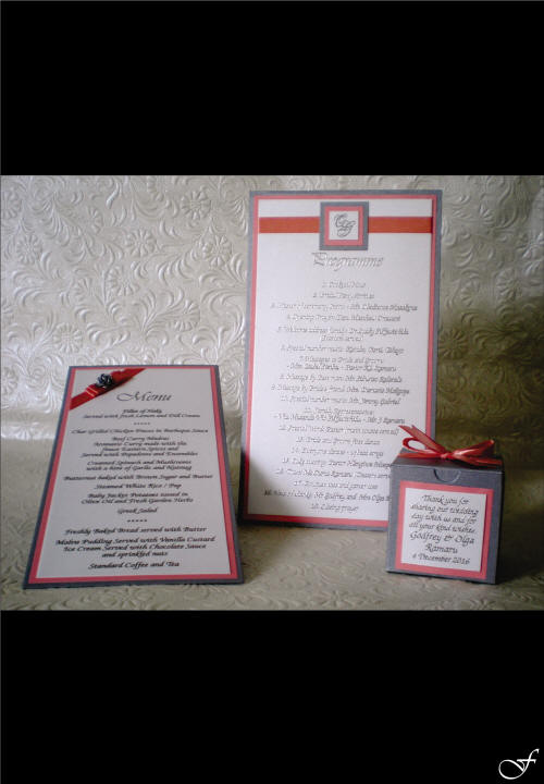 Matching Menus & Programmes by Fralenco