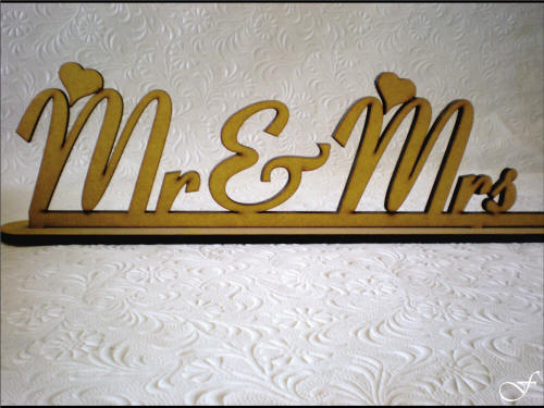 Mr & Mrs Laser Cut Name Plate - Fralenco
