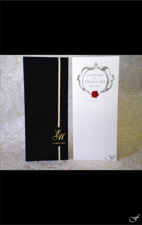 Order of Service Black & White by Fralenco