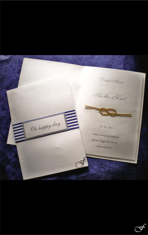 Order of Service Blue Stripe by Fralenco