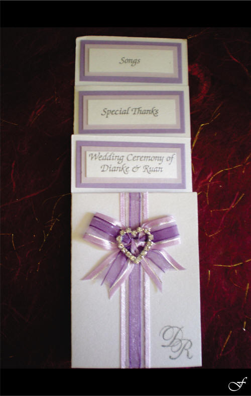 Order of Service with Purple Ribbon by Fralenco