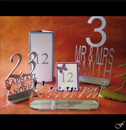 Assorted Table Names & Numbers by Fralenco