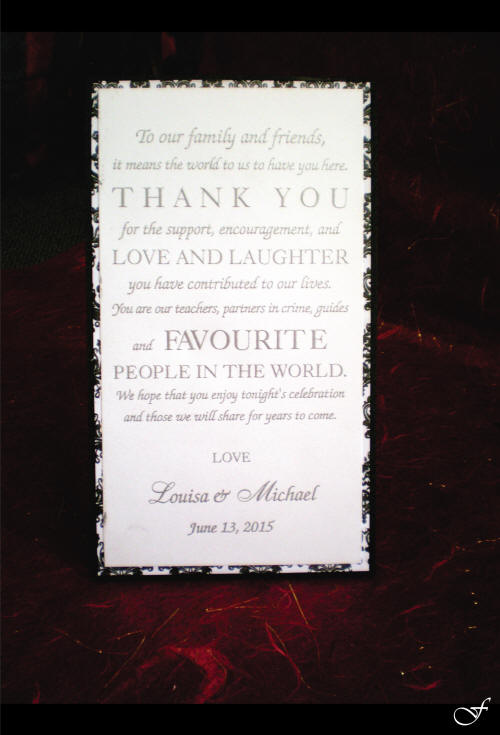 White Thank You Cards - Fralenco