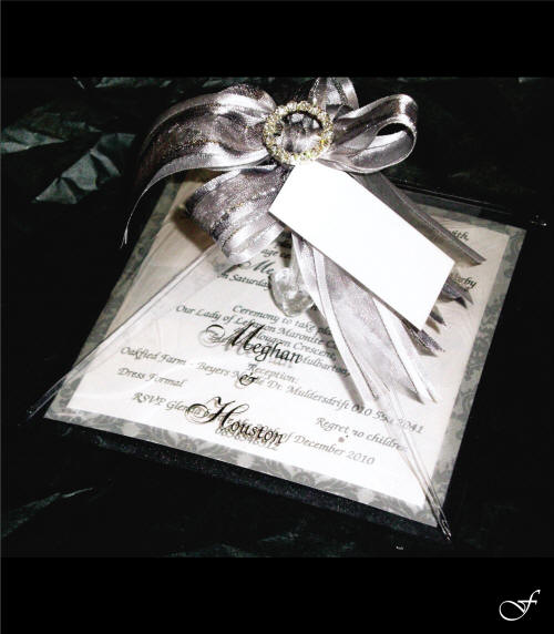 Wedding Invitation in Bag by Fralenco