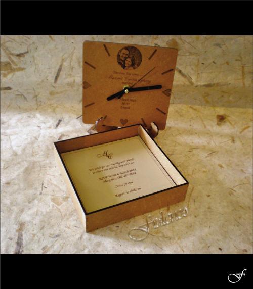 Wedding Invitation Clock Box by Fralenco