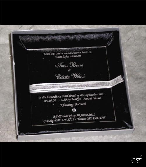 Wedding Invitation Mirror Box by Fralenco