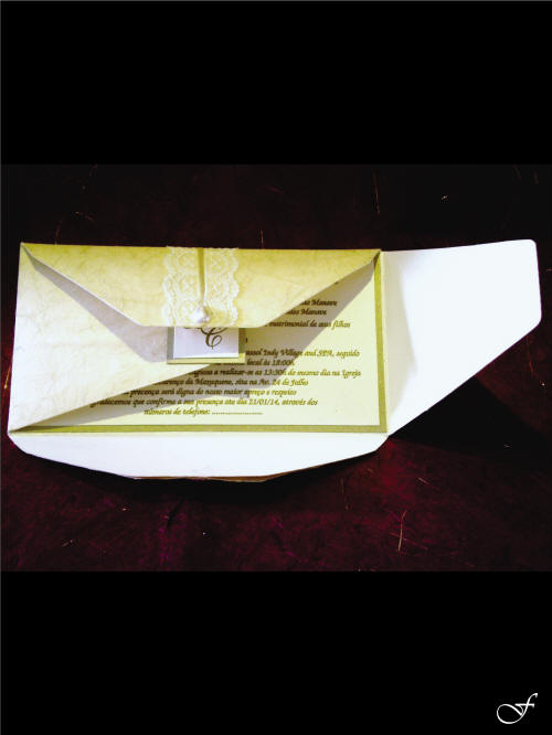 Wedding Invitation with Folded Envelope by Fralenco