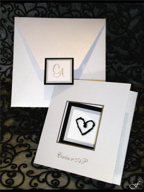 Wedding Invitation with Heart Window & Envelope by Fralenco