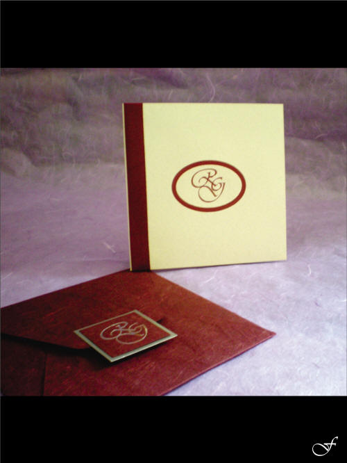 Leather Envelope and Wedding Invitation from Fralenco