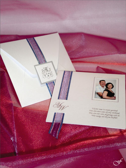 Wedding Invitation with Photograph and Envelope by Fralenco