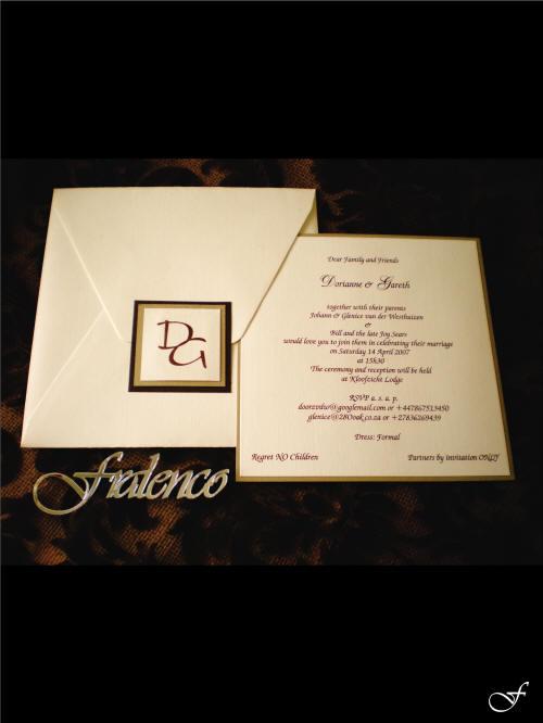 Plain Wedding Envelope & Invitation by Fralenco