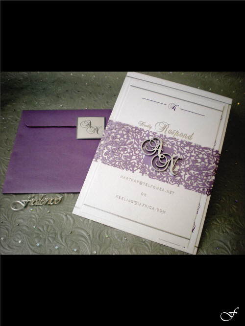 Wedding Invitation with Purple Envelope by Fralenco