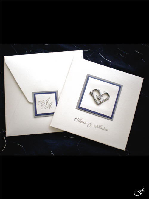 Wedding Invitation with Heart and Envelope by Fralenco