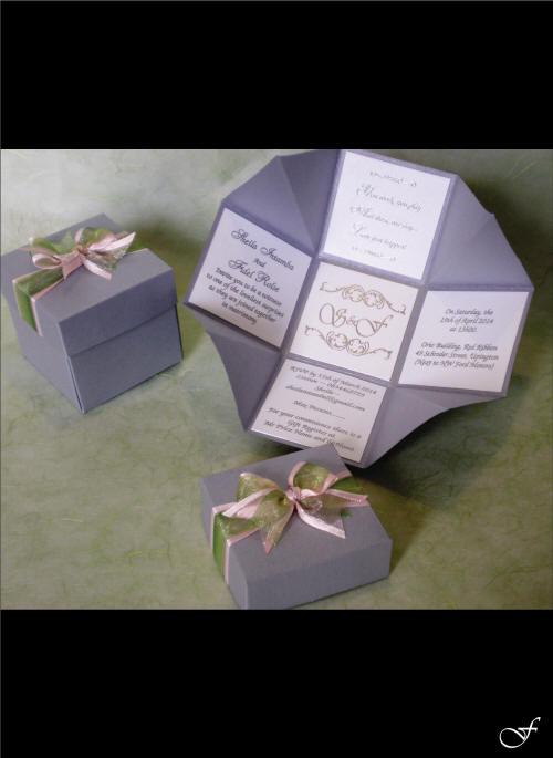 Folded Box Wedding Invitation by Fralenco