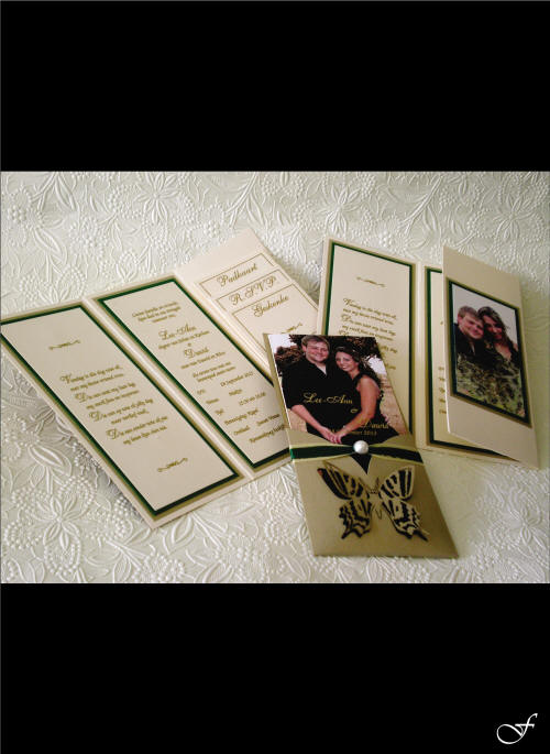Wedding Invitation Folded with Photograph by Fralenco