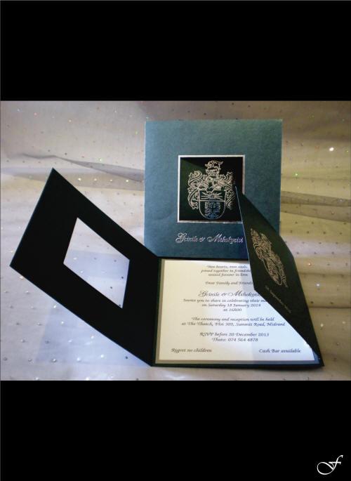 Folded Wedding Invitation with Window by Fralenco