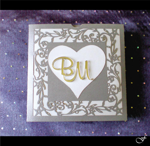 Wedding Invitation Laser Cut with Initials by Fralenco