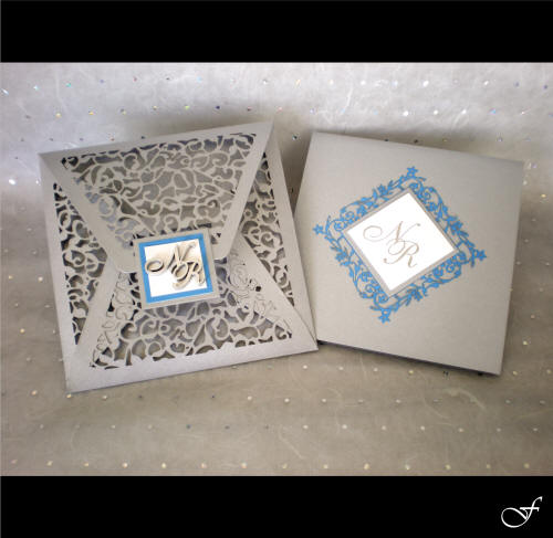 Wedding Invitation with Laser Cut Envelope by Fralenco