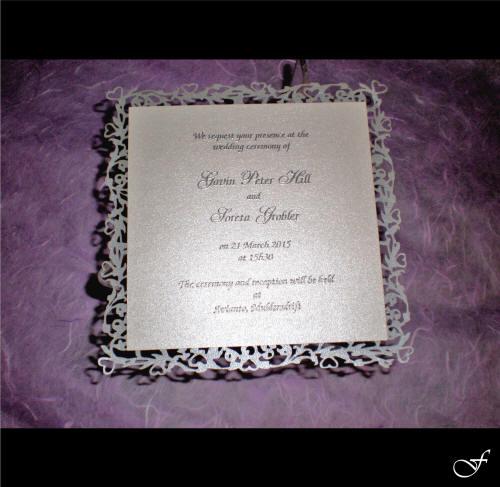 Wedding Invitation in Silver Board by Fralenco