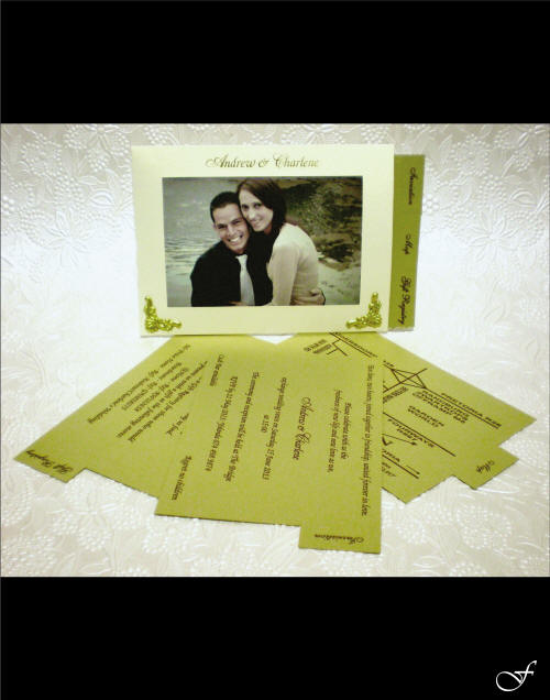 Wedding Invitations Photograph with Pull Out Tabs by Fralenco