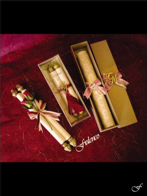 Assorted Scroll Wedding Invitations with Ribbons by Fralenco
