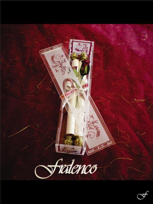 Scroll Wedding Invitation in Flexi Box by Fralenco