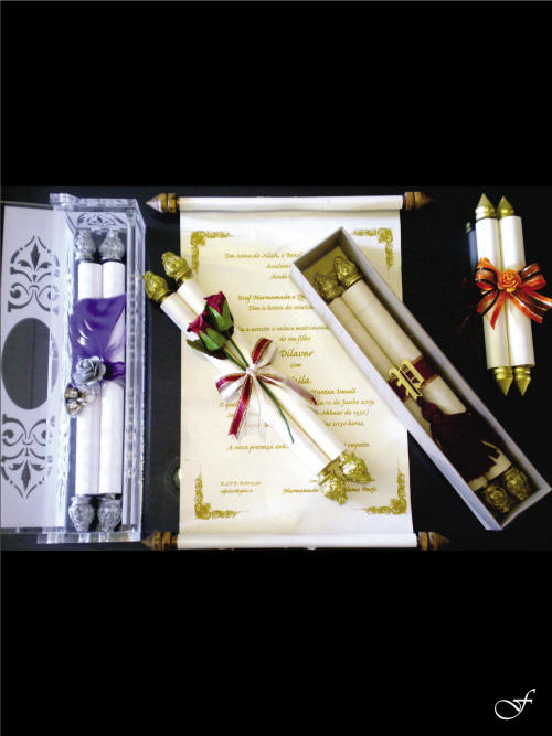 Assorted Scroll Wedding Invitations by Fralenco
