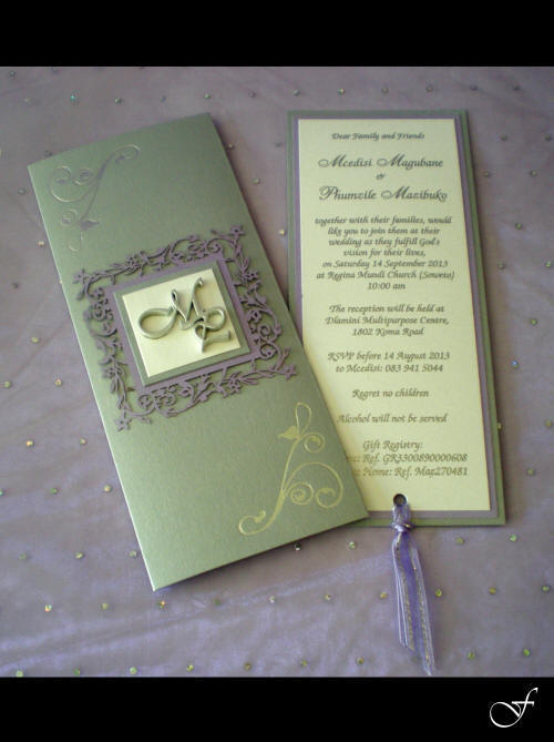 Laser Cut Pull Out Wedding Invitation by Fralenco