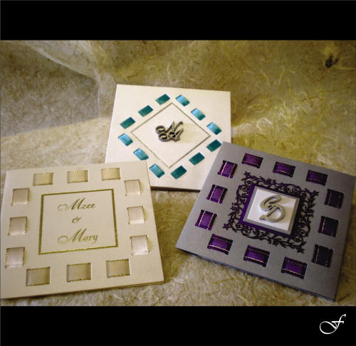 Wedding Invitations With Assorted Ribbon By Fralenco
