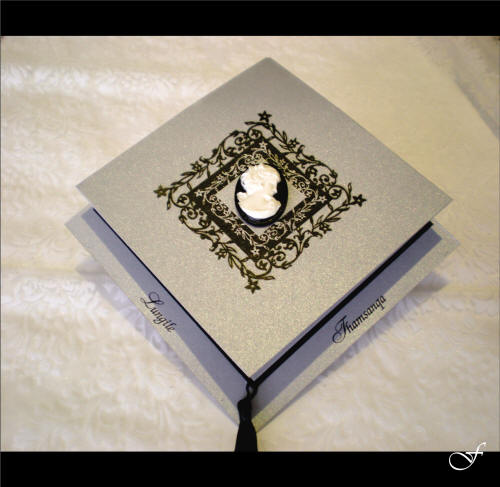 Wedding Invitations With Black Ribbon By Fralenco