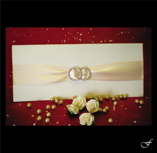 Wedding Invitations With Cream Ribbon By Fralenco