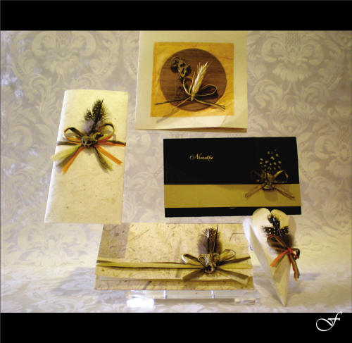 Wedding Invitations With Ribbon & Feathers By Fralenco