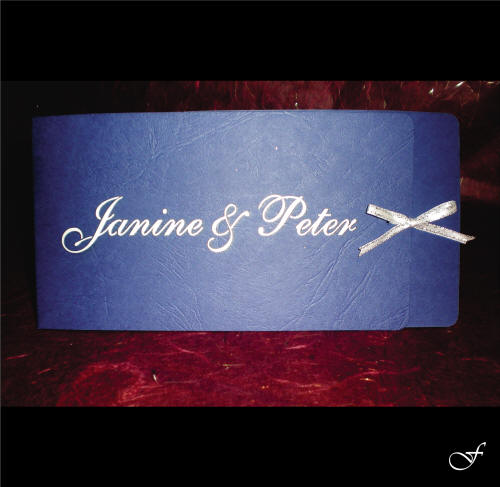 Wedding Invitations With Blue Ribbon By Fralenco