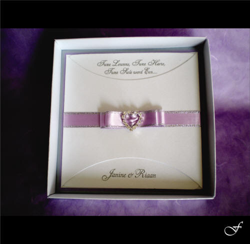 Wedding Invitations With Purple Ribbon By Fralenco