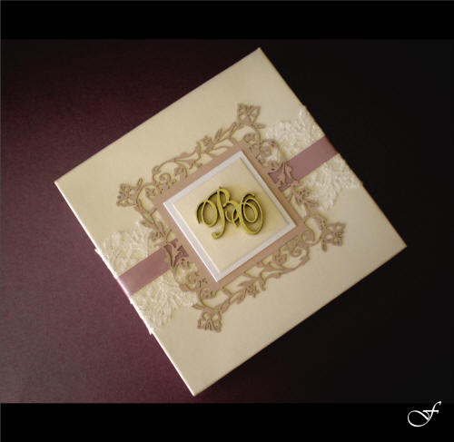 Wedding Invitations With Pink Ribbon By Fralenco